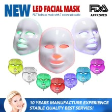 FDA Face Beauty Machine Led Light Therapy Face Mask 7 Colors Skin Rejuvenation LED Facial Mask