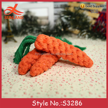 S3286 new fashion hand knitted cotton carrot plush toy handmade crochet toys