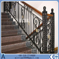 2015 Hot sale aluminum railing /new style high quality used wrought iron fence