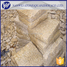 yellow color G682 china granite stone block RUSTY split finished paver kerbstone