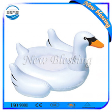 Floating inflatable white duck water games for kids and adults