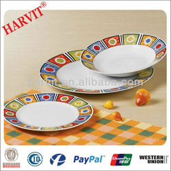 2014 Hot Machines For Making Plates/Ceramic Decorate Dinner Plate With Custom Design/Catering Dinner Plates