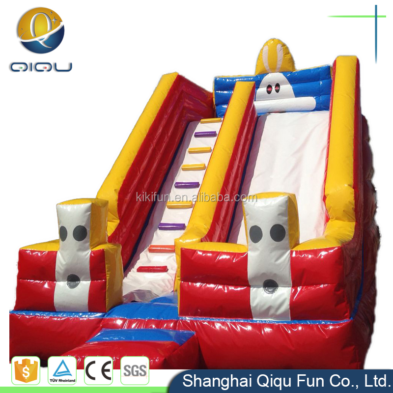 Cheap CE approved PVC inflatable adult playground water slides for kids / beach slide fun equipment / children slide for house