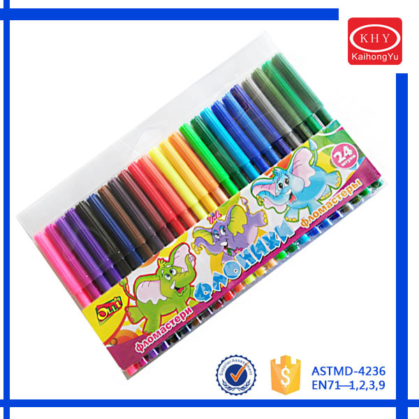 Multi-colors available PVC package non-toxic children art marker