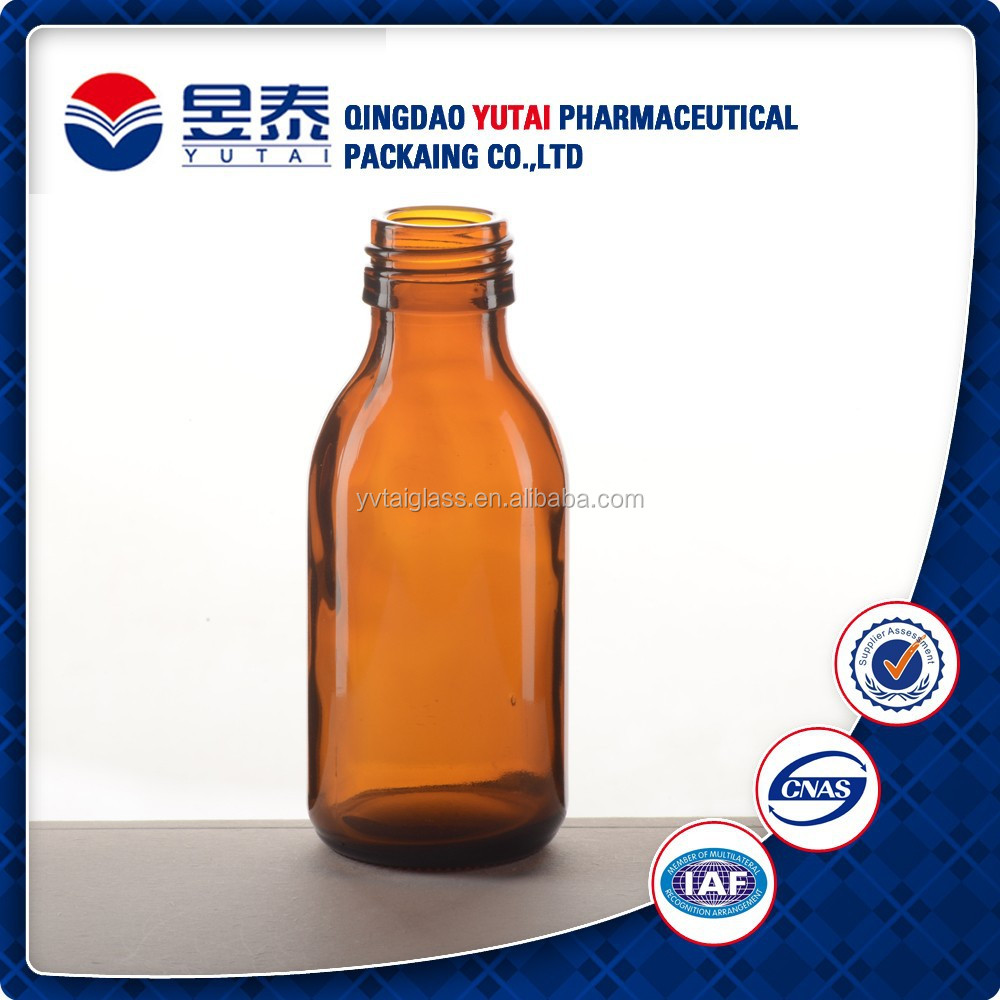 Pharmaceutical Amber Syrup Glass Bottle with Aluminum Cap