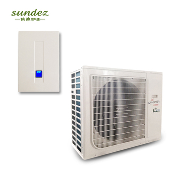 Split Wall Mounted air to water DC inverter heat pump air conditioner for house heat /cool