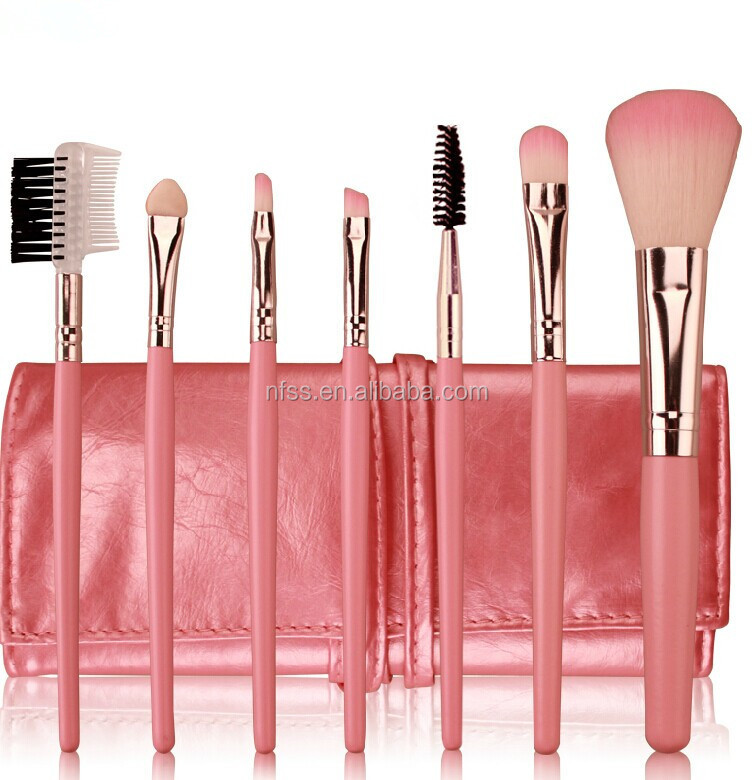 Wholesalle Cheap Mini Makeup Brush Kit ,Portable Makeup Brush Set ,7 pcs Make Up Brush Set