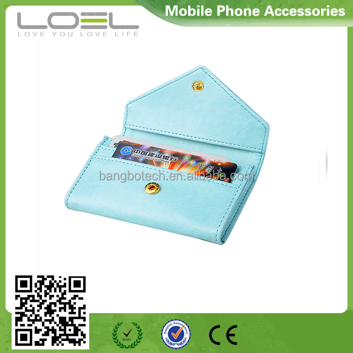 China leather factory envelope bag for name card holder credit card case business card pouch