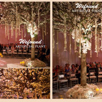 WEFOUND Romantic wedding Ideas artificial cherry blossom tree fake trees for weddings