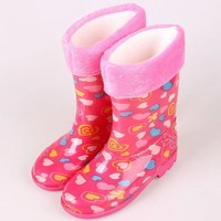 PVC Kid's Lovely Rain Boots