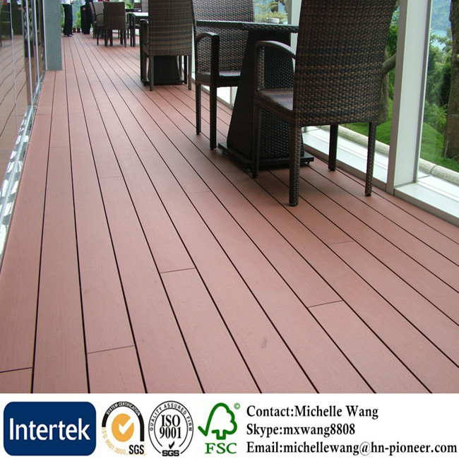 Weather resistant factory price WPC garden decking, wood composite decking, composite decking