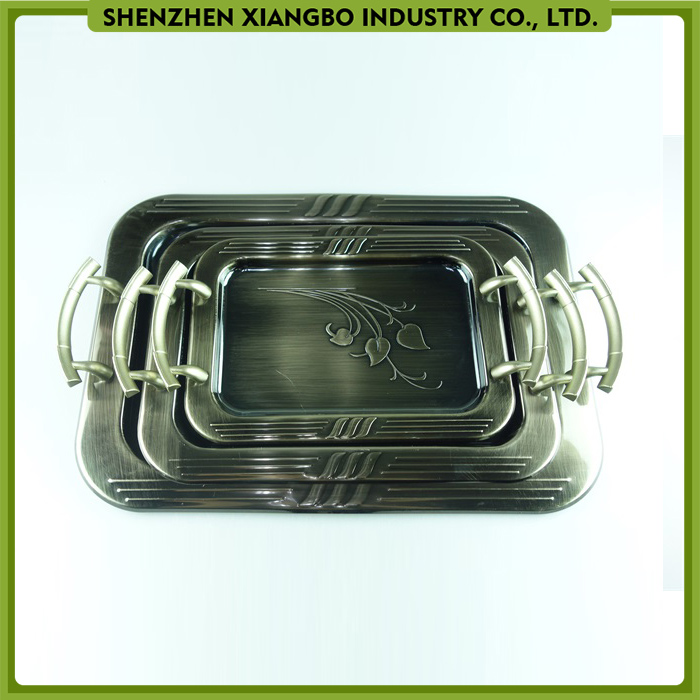 2016 New Stainless Steel rectangle Tray/Stainless Steel Serving Tray/Metal Dinner Tray