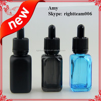 100%light-proof solid black 30ml french square bottle with glass dropper 30ml e juice bottle