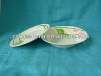 ceramic dinnerware set wiht one plate and soup bowl