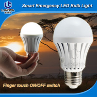 Finger touch emergency magic led bulb light B22/E27 7w camping light bulb