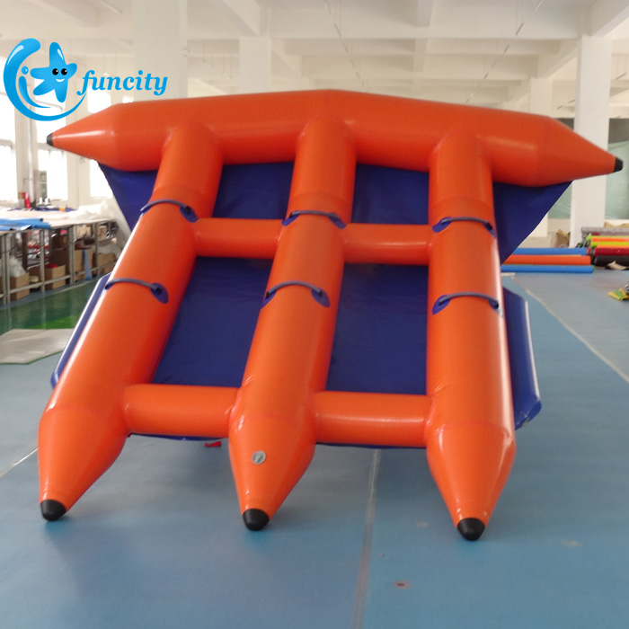 Commercial grade PVC tarpaulin 4 person water fly fish inflatable floating fly fish for adults