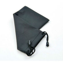 Black microfiber camera bag pouch