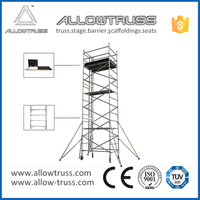 Heavy duty wedge lock scaffolding outrigger details
