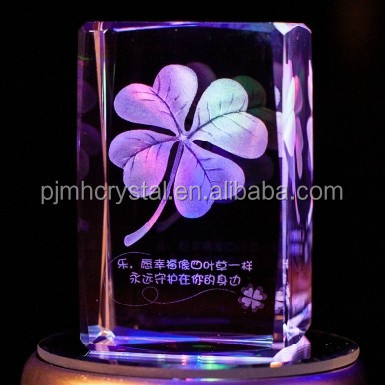 K9 crystal blank 3d laser crystal figurines MH-F0084