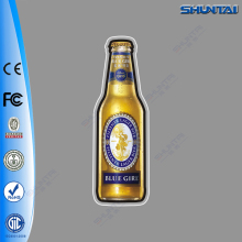 Beer bottle shape crystal led light sign