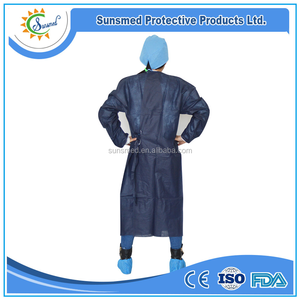 Sunsmed dark blue disposable surgical gown non woven surgical gown with best price