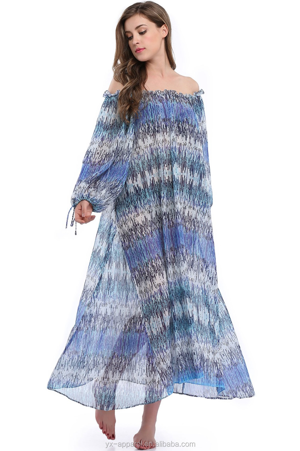 Adult women maxi long rainbow handmade crochet knit beach dress with tassel