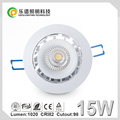 15w dimmable high quality cob led downlight with 98mm cut hole 2700k 3000k 4000k 5000k warm white cool white beautiful