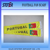 2014 hot selling polyester / stain football fan scarf/soccer scarf