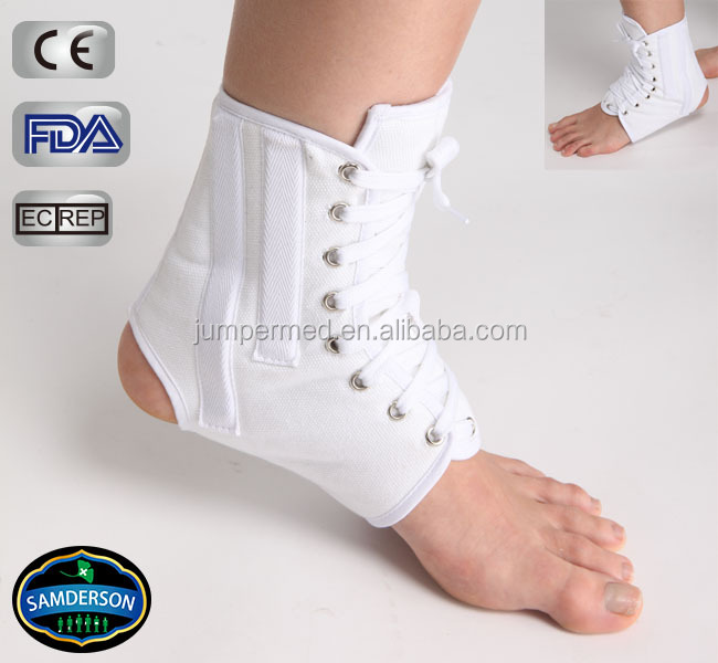 canvas breathable deluxe lace up ankle brace / achilles tendonitis brace