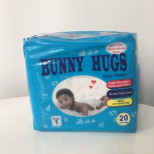 Disposable low price bunny hugs baby diaper manufacturer in China with magic tape