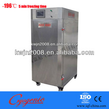 -190C liquid nitrogen refrigerator, small batch iqf freezer