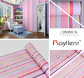 Stripe designs self adhesive wall decoration stickers wallpaper