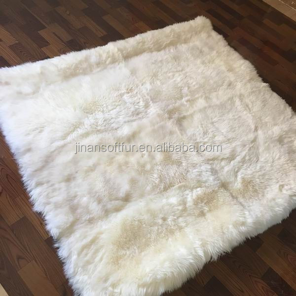 Luxury Natural Long Wool Carpet Rug for Bedroom