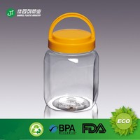 AC-2 FDA Free Handle lid huge jar for jelly food cookie candy packing pet plastic jar