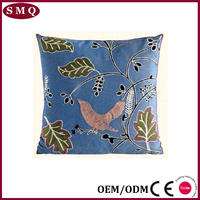 45*45cm 100% linen garden chair embroidery cushion cover
