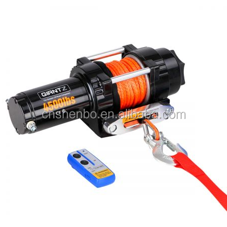 4500lbs Electric Winch for ATV 4WD Synthetic Rope with Remote