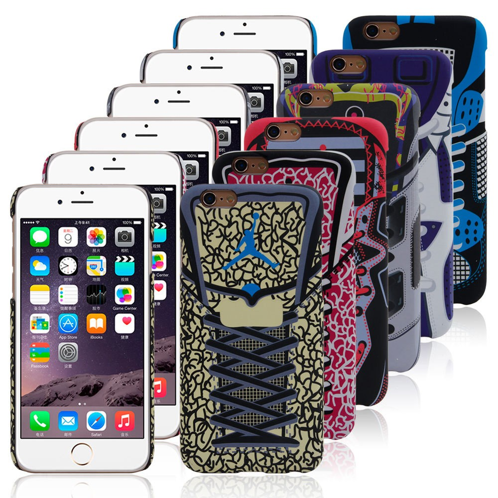 Free Sample 2016 Fashion Shoe Design Plastic Mobile Phone Cover for iPhone 6 Custom Printed Cell Phone case