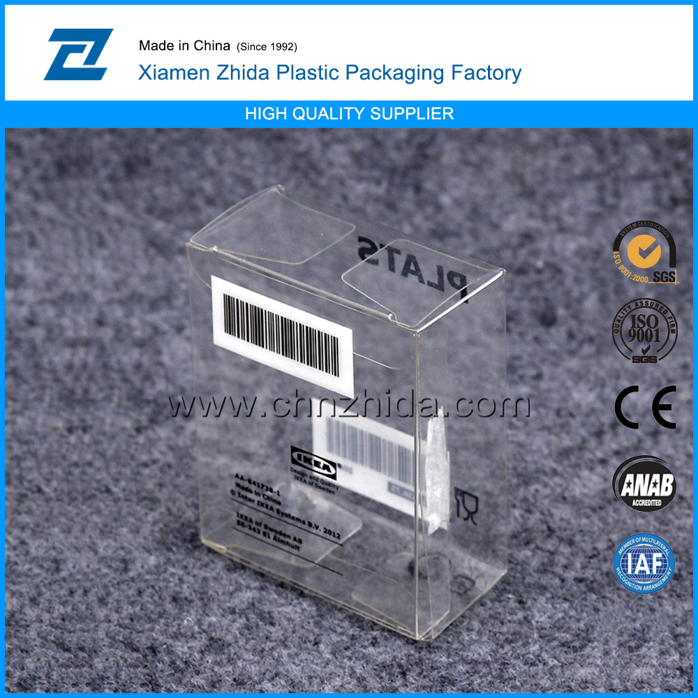 fold up plastic box for article packaging,transparent souvenir plastic packaging box
