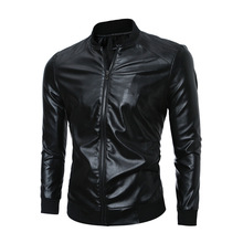 2016 Winter Cheap <strong>Men's</strong> Short Natural Leather Jackets Bulk Buying From China