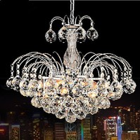Dia.45cm Max H100cm AC110V 220V European Luxury Light Modern Living Bedroom Dining Room Cheap LED Crystal Pedant Chandelier Lamp