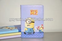 despicable me 2 minions leather case cover with st,for ipad mini case