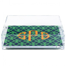 monogrammed small lucite tray