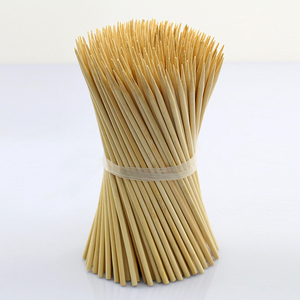 High Quality Disposable Custom Barbecue 40cm Round Bamboo Skewer
