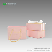 Customzie paper pink suitcase gift box cardboard gift box for necklace