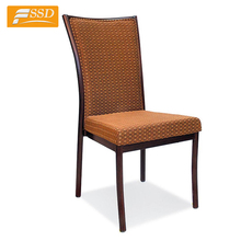 Shunde banquet hall restaurant aluminum imitated wood chair