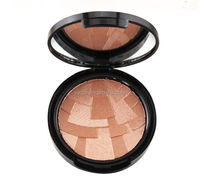 waterproof mineral compact powder makeup highlighter black compact case