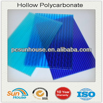 twins wall poly carbonate hollow sheet