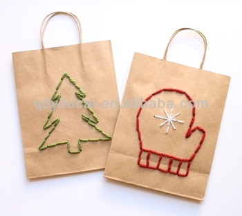 Christmas kraft paper bag design for free samples