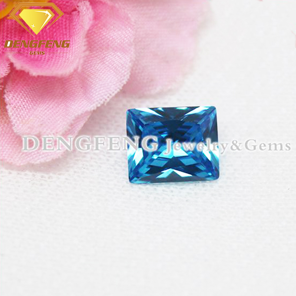Good Quality Synthetic Baguette Cut Aquamarine Stones for Sale