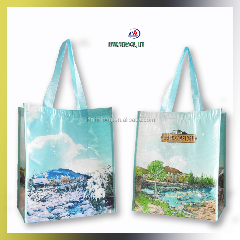 Non-woven tote Laminated sack shopping bag